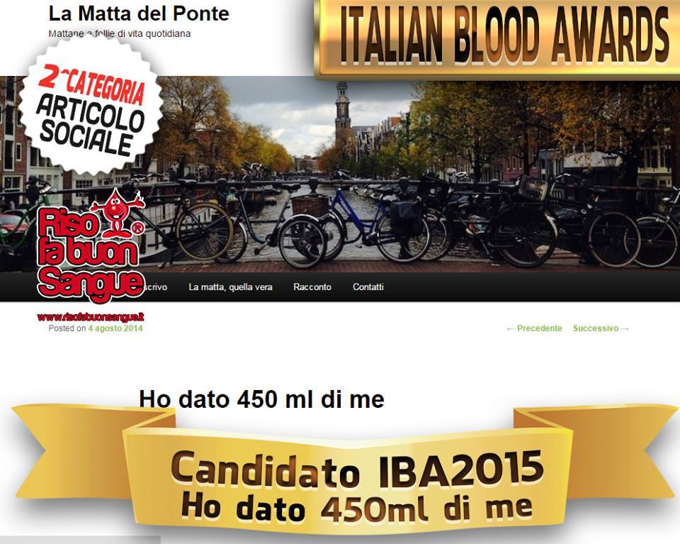 italian blood award